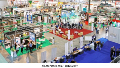 Blurred background, trade show area