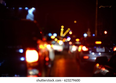 Blurred background, Blurred traffic jam, Abstrak traffic jam