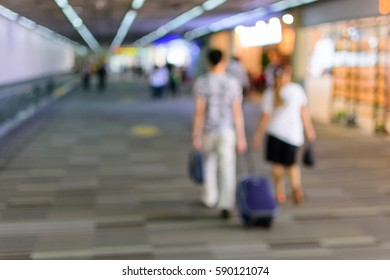 Blurred background : Travelers in Airport