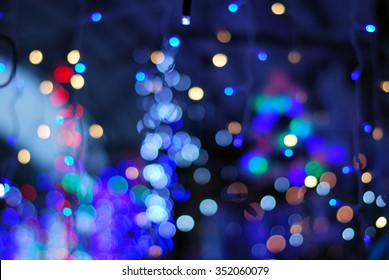 blurred background of a variety of points of light