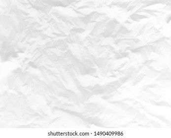 Blurred background of white crumpled paper or scrap paper sheet.