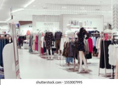 Blurred background of women fashion zone in department store