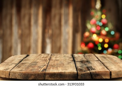 Blurred background xmas tree lights wall stock photo 100 legal blurred background of xmas tree lights and wall with woorn wooden big table aloadofball Gallery