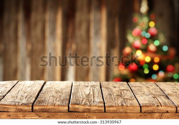 Blurred Background Xmas Tree Lights Wall Stock Photo Edit Now
