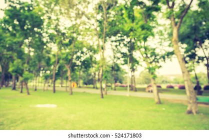 Blurred background,People exercise at green park with bokeh light. Healthy lifestyle concept