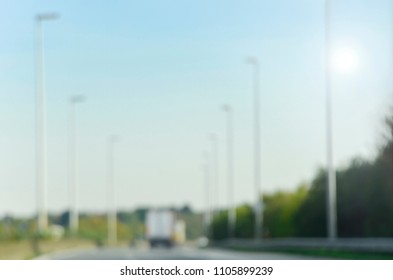 Blurred backgrounds - autobahn, European roads and highways