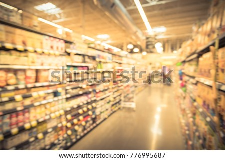 Blurred Baking Supplies Jams Nut Butters Stock Photo (Edit
