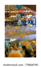 Blurred in the banquet room with colorful balloon