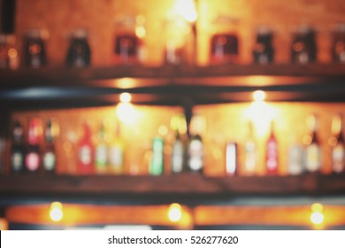 Blurred of bar