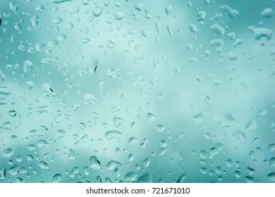 blurred beautiful drop of rain on glass or windows surface. blurred dew or raindrop on glass surface for abstract background.