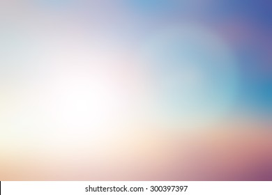 blurred beautiful natural pastel background lens ray flare flash light.