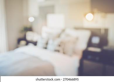 Blurred Bedroom applying Retro Instagram Style Filter