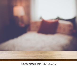 Blurred Bedroom with Retro Instagram Style Filter
