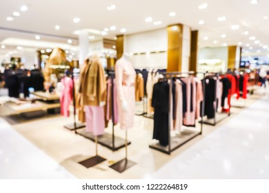 Blurred of Big shopping mall has many products. Beautiful clothes to choose from. Everything is available. Popular people walk and shop.The atmosphere is cool, suitable for relaxing.