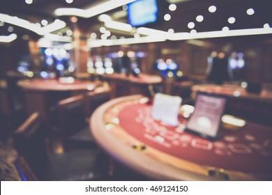 Blurred Black Jack Table