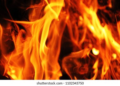 Blurred blaze fire flame texture background