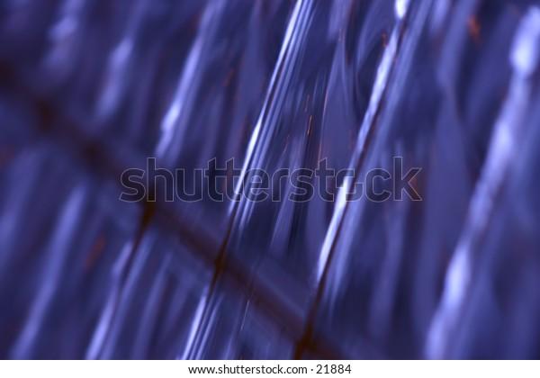 Blurred blue background.