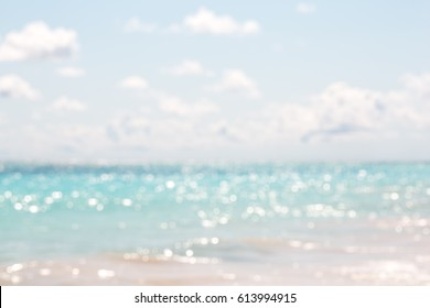 Blurred blue sky background with bokeh light