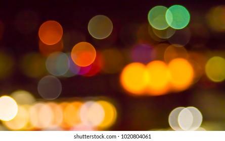 blurred bokeh background bright multicolored lights