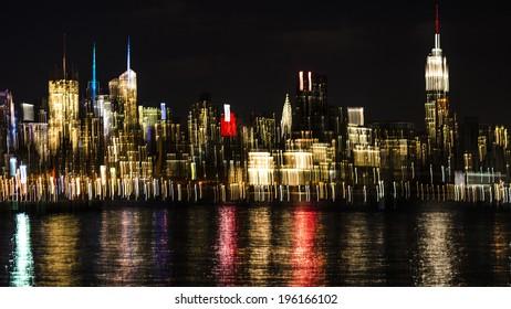 Blurred Bokeh Background of New York City