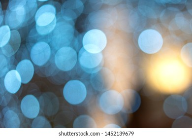 blurred bokeh blue, beautiful Wallpaper for a festive mood.