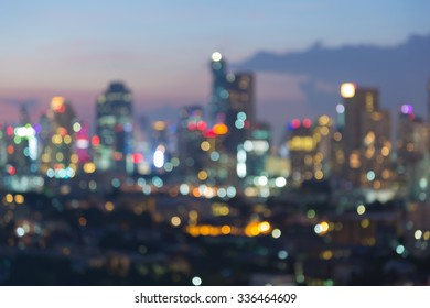 Blurred bokeh city lights at nigth, abstractbackground