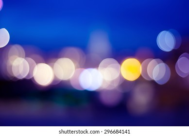 blurred bokeh lights of Brussel's Grand Place