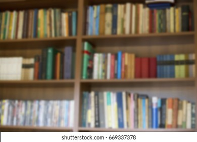 Blurred books background