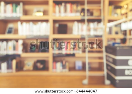 Blurred Bookshelf Library Room Your Background Stock Photo Edit Now