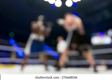 Blurred boxing fight.