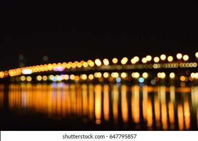 blurred bridge lights