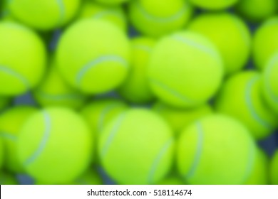 blurred a lot of bright yellow tennis balls as the background, the substrate