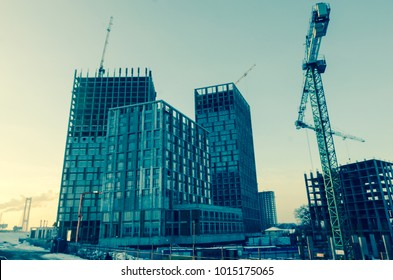 blurred building site