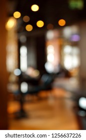 Blurred cafe interior