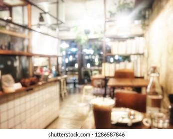 Blurred cafe,loft style.