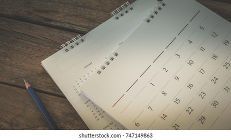 blurred calendar.