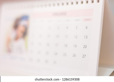Blurred calendar abstract