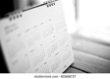 blurred calendar in black tone.