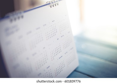blurred calendar page