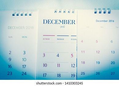 Blurred calendar in planning work concept.