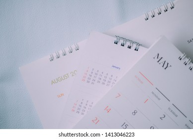 Blurred calendar in planning work concept.