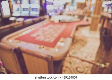 Blurred Casino Interior