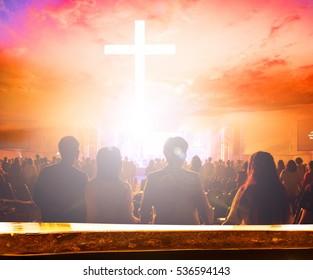 blurred christ cross background