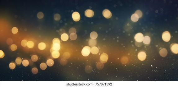Blurred Christmas and New Year Holidays Background with bokeh