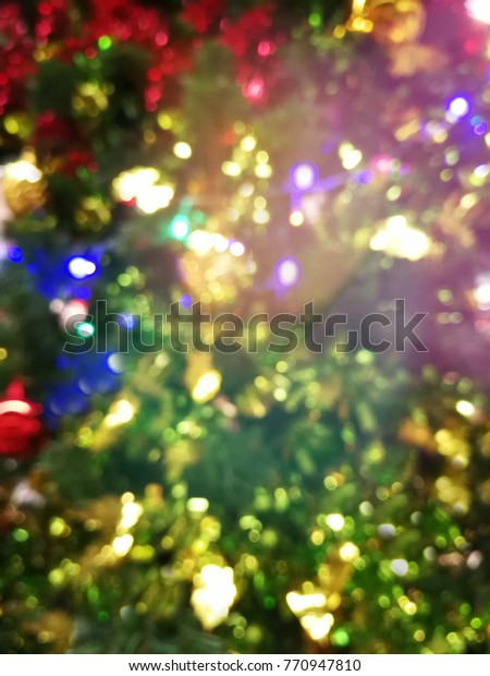 Blurred Christmas Tree New Year Colorful Stock Photo Edit Now