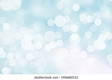 BLURRED CIRCLE LIGHTS BACKGROUND, SOFT WINTER BOKEH, CELEBRATION DESIGN WITH CLEAR SNOW AND BOKEH LIGHTS, BACKDROP BACKGROUND