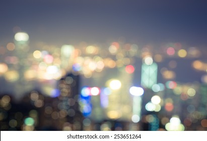 blurred city at blue hour. concept about traveling and city lifestyle