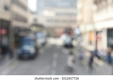 Blurred City Traffic in London England