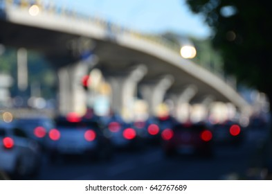 blurred city traffic view