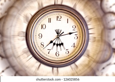 Blurred clock face for a card, wallpaper or background. Passing time